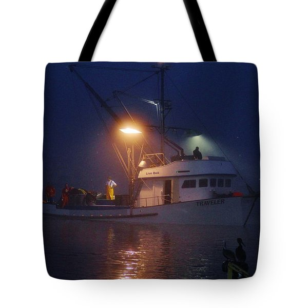 Traveler Bait Boat Tote Bag
