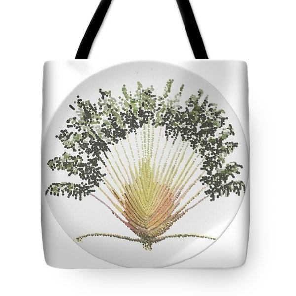 Tote Bag featuring the digital art Travelers Palm Plate by R  Allen Swezey