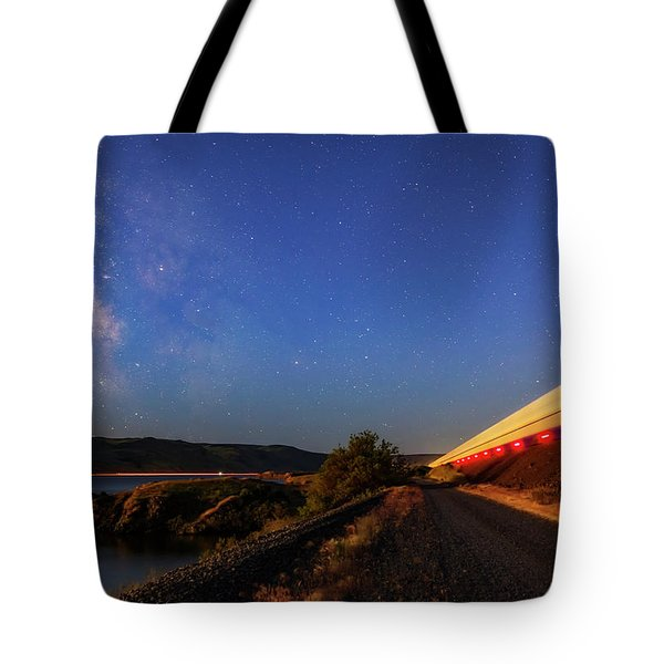 Tote Bag featuring the photograph Traveling At The Speed Of Light by Cat Connor