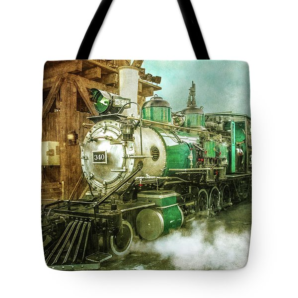 Traveling By Train Tote Bag by Claudia Ellis