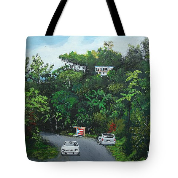 Traveling In Adjuntas Mountains Tote Bag by Luis F Rodriguez