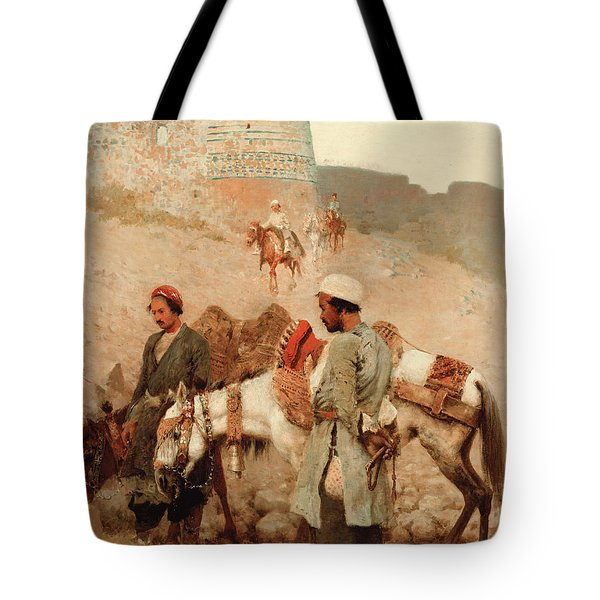 Traveling In Persia Tote Bag by Edwin Lord Weeks