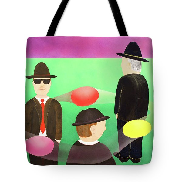 Tote Bag featuring the painting Traveling In The Right Business Circles by Thomas Blood