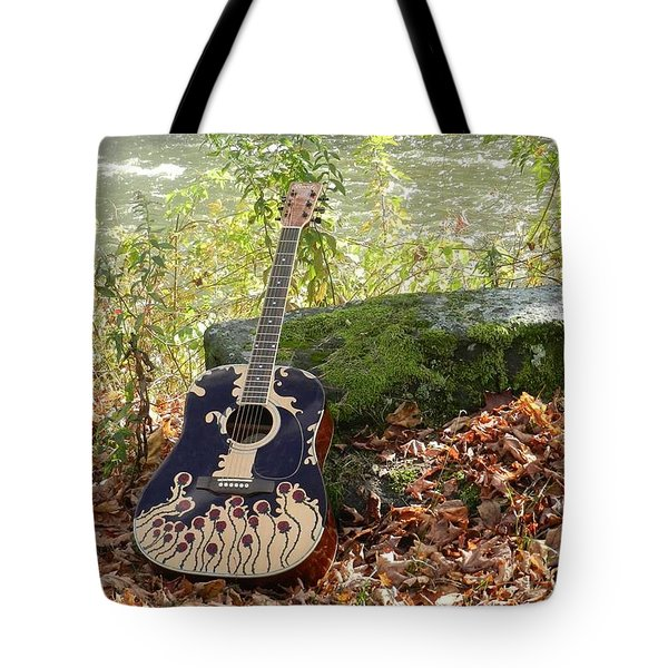 Traveling Musician Tote Bag