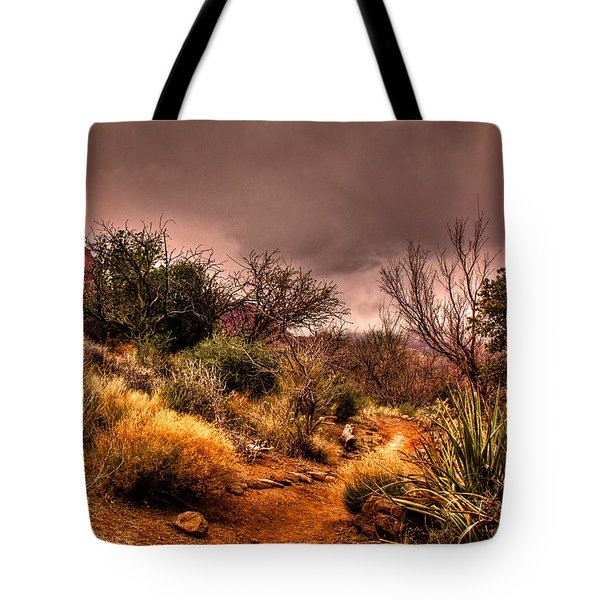 Traveling The Trail At Red Rocks Canyon Tote Bag