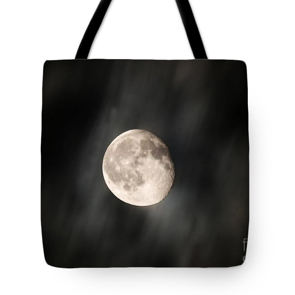 Travelling With Moon Tote Bag