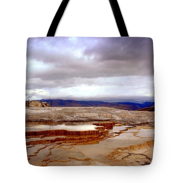 Tote Bag featuring the photograph Travertine Terraces by Irina Hays