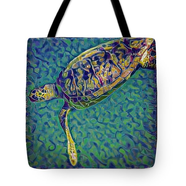 Travis The Turtle Tote Bag