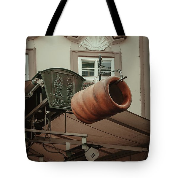 Tote Bag featuring the photograph Trdelnik. Prague Architecture by Jenny Rainbow