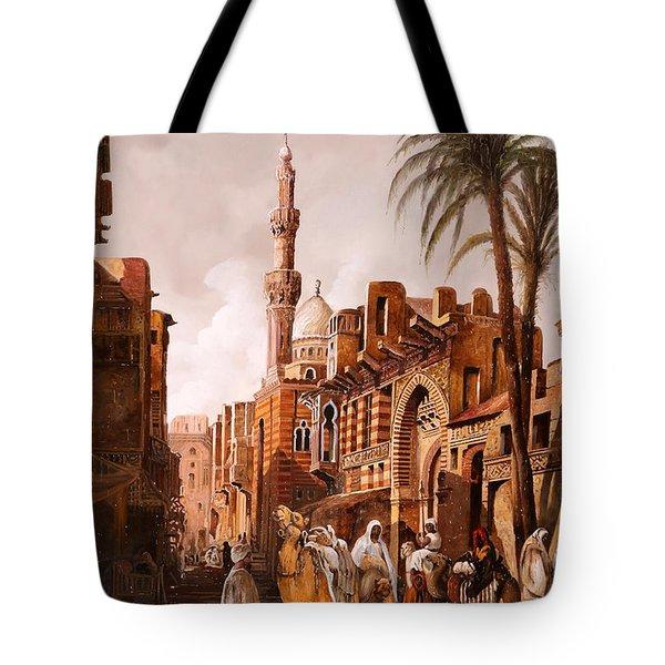 tre cammelli in Egitto Tote Bag