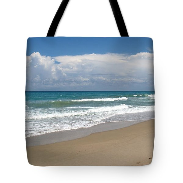 Treasure Coast Beach Florida Seascape C4 Tote Bag by Ricardos Creations