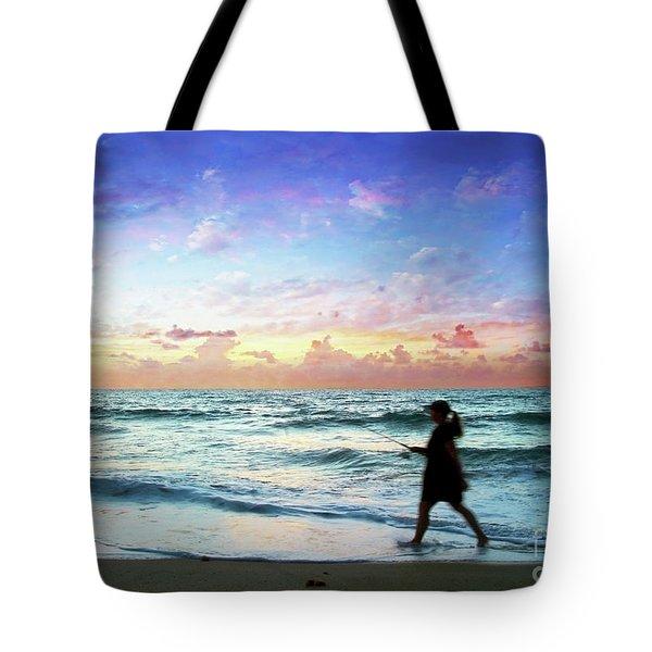 Treasure Coast Florida Seascape Dawn D6 Tote Bag
