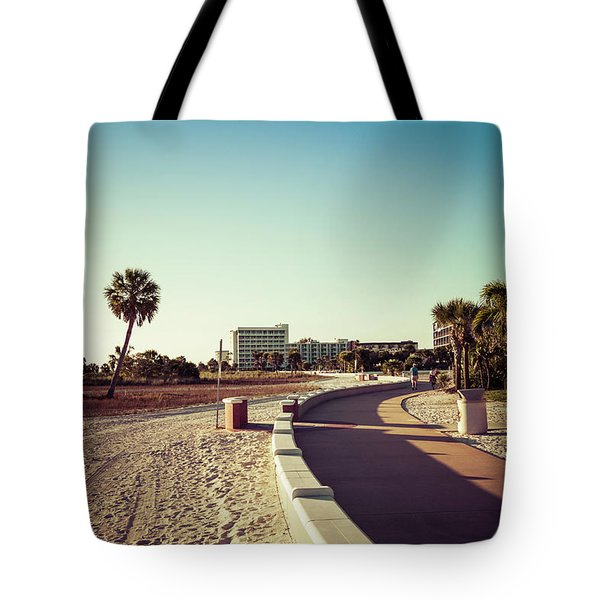 Tote Bag featuring the photograph Treasure Island Beach Trail by Joel Witmeyer