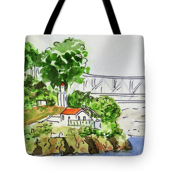 Treasure Island - California Sketchbook Project  Tote Bag by Irina Sztukowski