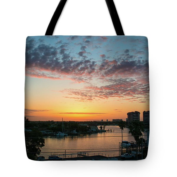 Tote Bag featuring the photograph Treasure Island Sunrise by RC Pics