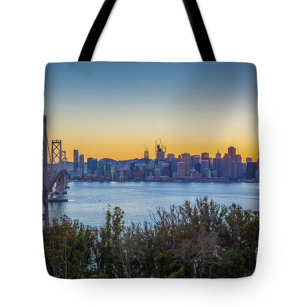 Treasure Island Sunset Tote Bag by JR Photography