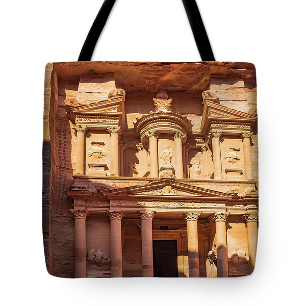 Tote Bag featuring the photograph Treasury Of Petra In Color by Mae Wertz
