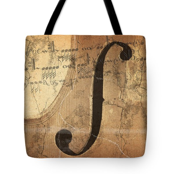 Treble Clef Tote Bag by Michal Boubin