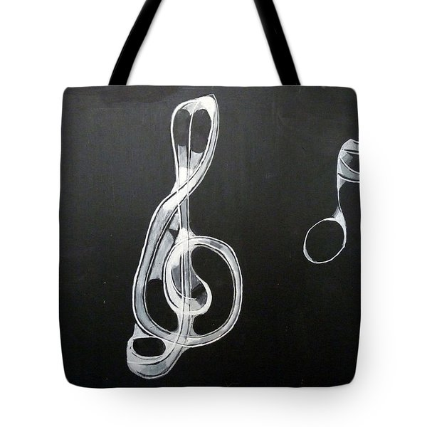 Tote Bag featuring the painting Treble Clef by Richard Le Page
