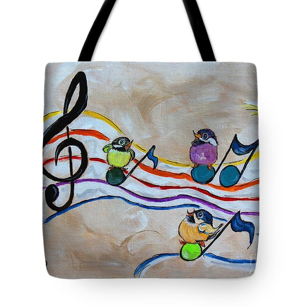 Treble Clef Trio Tote Bag