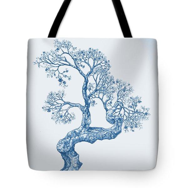 Tree 14 Blue 1 Tote Bag
