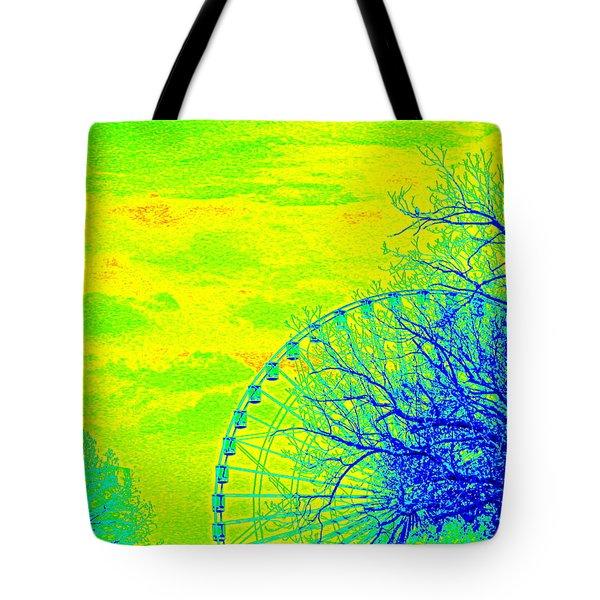 Tree And Ferris Wheel  Tote Bag