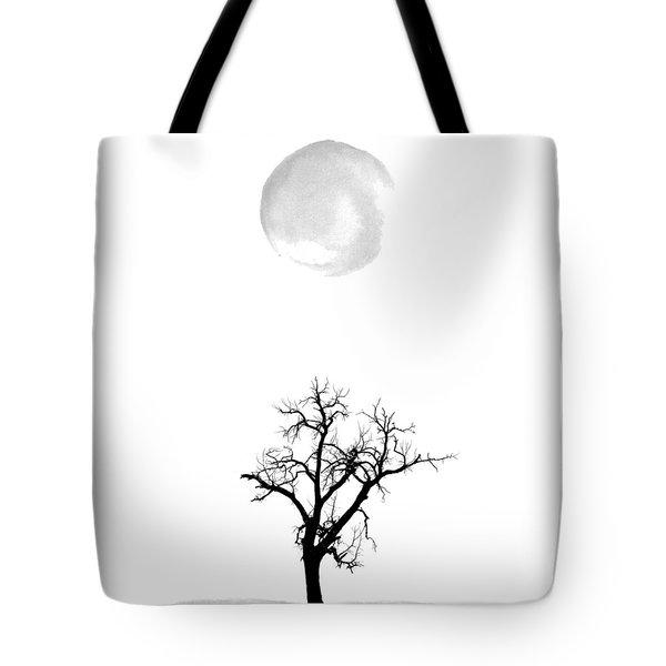 Tree And Moon Tote Bag