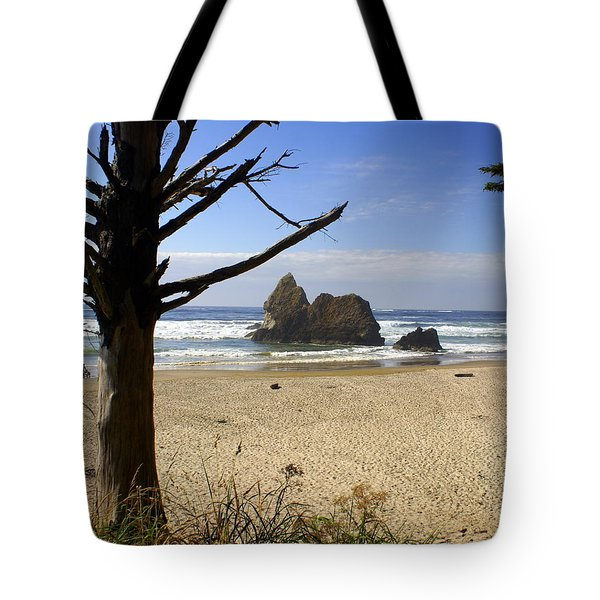 Tree And Ocean Tote Bag by Marty Koch