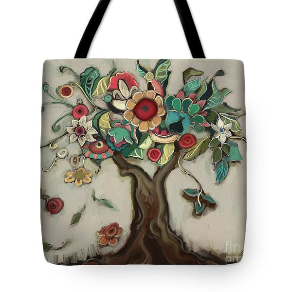 Tree And Plenty Tote Bag by Carrie Joy Byrnes