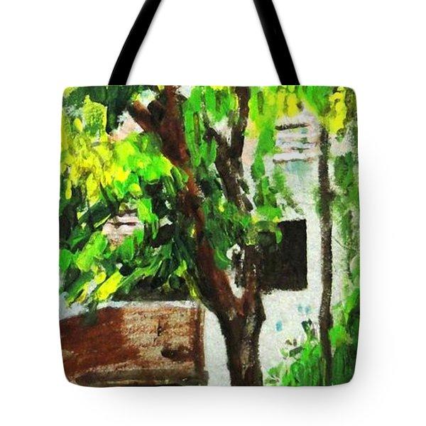 Tree And Shade Tote Bag by Usha Shantharam