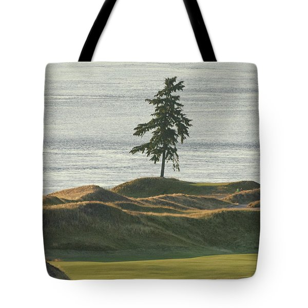 Tree At Chambers Bay Tote Bag