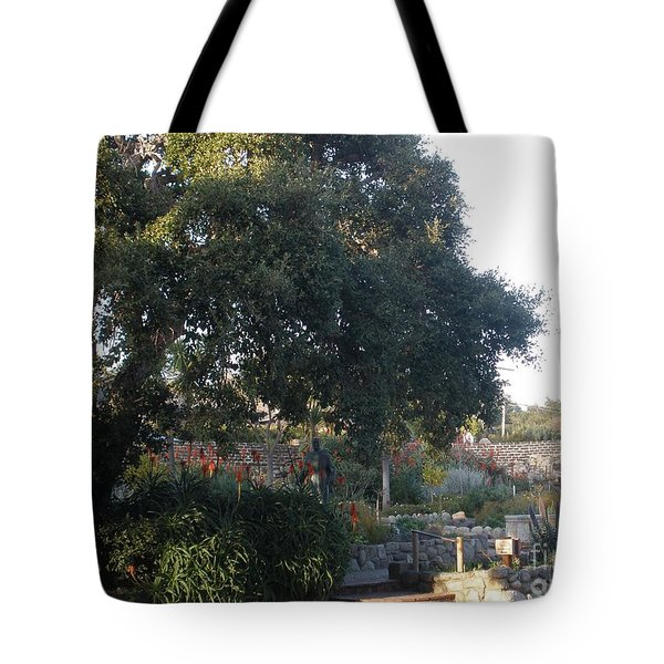 Tree At Mission Carmel Tote Bag