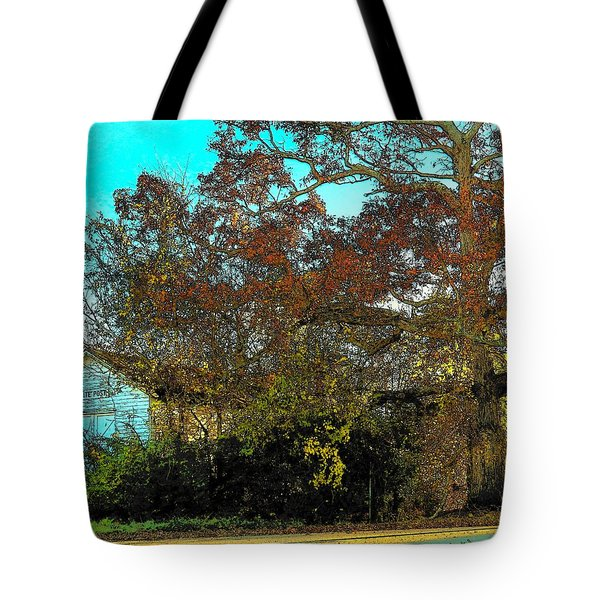 Tree At The Station Tote Bag by Joyce Kimble Smith