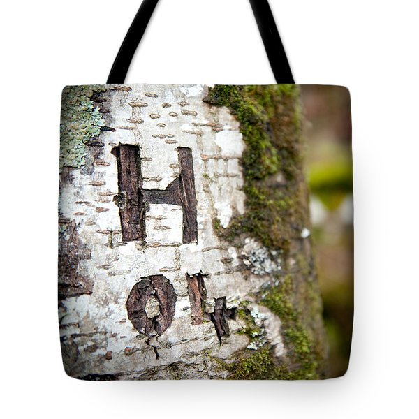 Tree Bark Graffiti - H 04 Tote Bag