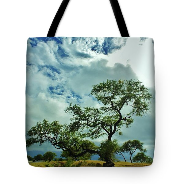 Tree Beside The Tracks Tote Bag