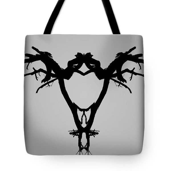 Tote Bag featuring the photograph Tree Bird I Bw by David Gordon