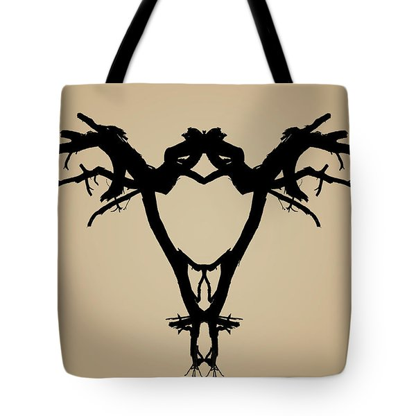 Tree Bird Toned Tote Bag