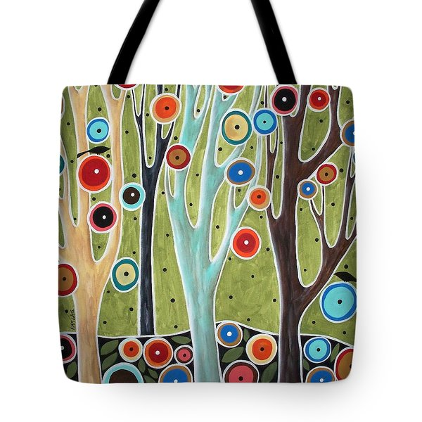 Tree Blooms And Birds Tote Bag by Karla Gerard