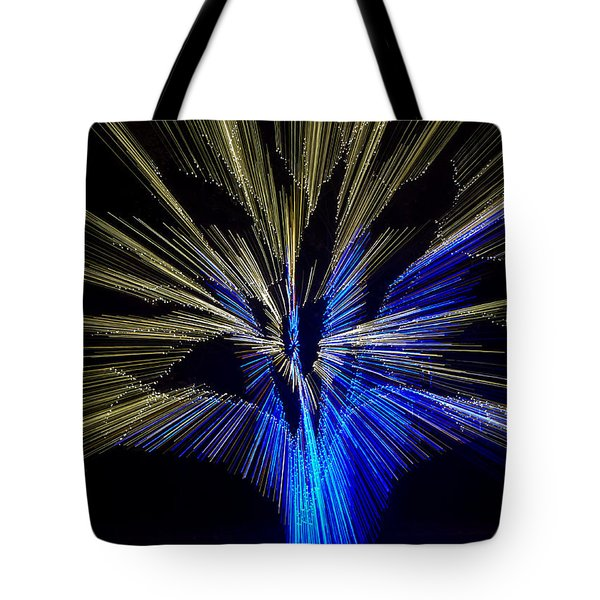 Tree Burst Of Blue And Yellow Tote Bag