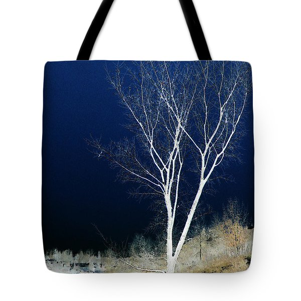 Tote Bag featuring the photograph Tree By Stream by Stuart Turnbull
