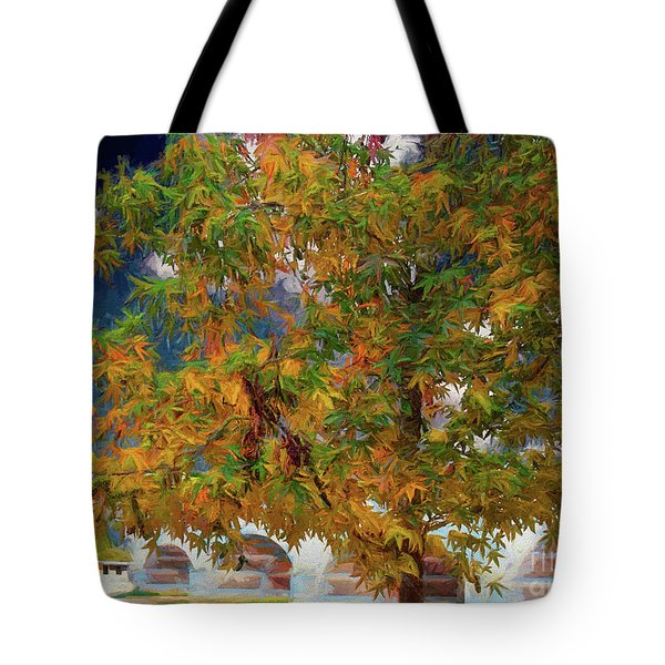 Tree By The Bridge Tote Bag
