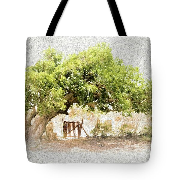 Tree By The Gate Tote Bag
