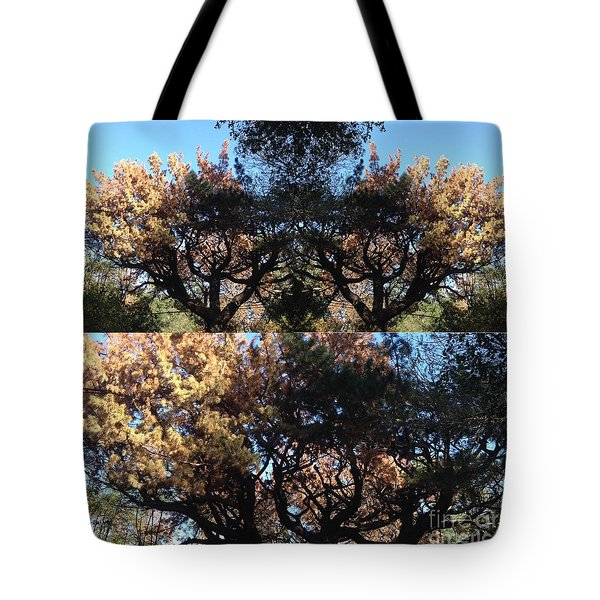 Tote Bag featuring the photograph Tree Chandelier by Nora Boghossian