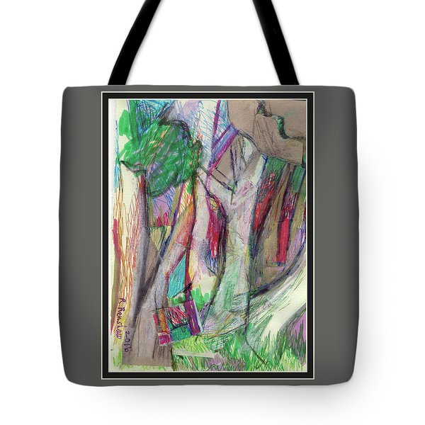 Tree Collage Tote Bag by Ruth Renshaw