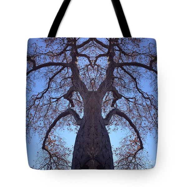 Tree Creature Tote Bag by Nora Boghossian