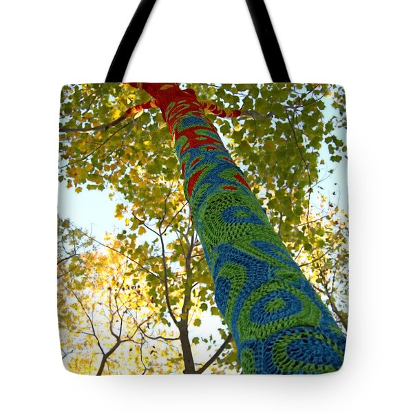 Tree Crochet Tote Bag
