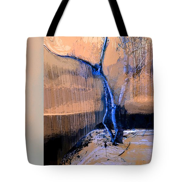 Tree Dancing On The Edge Tote Bag