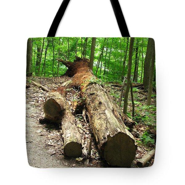 Tree Down Tote Bag