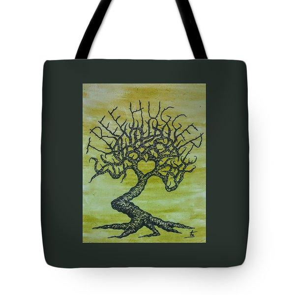 Tree Hugger Love Tree Tote Bag