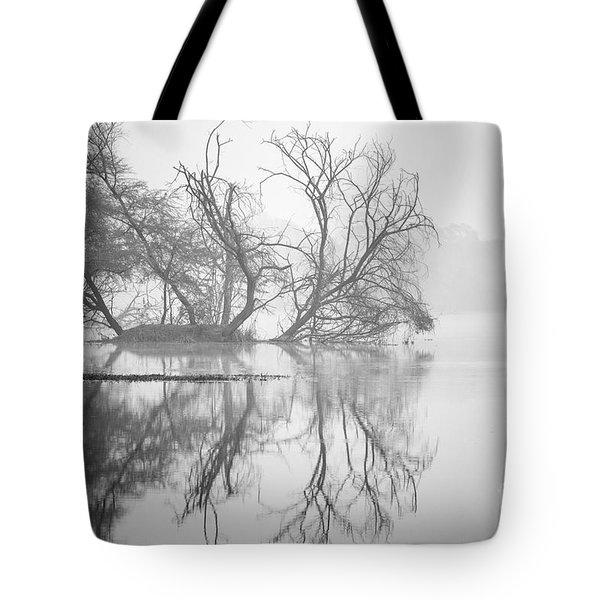 Tree In A Lake Tote Bag